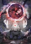 artist_name aura day_walker1117 dusclops energy english_text gen_3_pokemon hands_up highres magic no_humans one-eyed orb pokemon pokemon_(creature) red_eyes signature straight-on