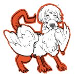 absurdres centauroid eating food highres monster_girl mota onigiri tail taur wings