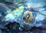 absurdres animal_focus artist_name black_eyes day_walker1117 dutch_angle english_text feebas fish full_body gen_3_pokemon glint highres light_rays no_humans open_mouth pokemon pokemon_(creature) prism_scale shiny signature solo swimming underwater water