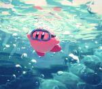 highres kirby kirby_(series) nintendo no_humans rock solo suyasuyabi swimming underwater
