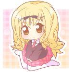 chibi long_hair mashiro_rima mirai_(artist) mirai_(sugar) necktie school_uniform shugo_chara! skirt