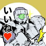 30_minutes_missions alto_(30mm) heart highres looking_at_viewer mecha no_humans saitoteki_saku science_fiction solo sparkle thumbs_up upper_body visor