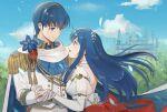 1boy 1girl blue_hair caeda_(fire_emblem) fire_emblem marth marth_(fire_emblem) sheeda sheeda_(fire_emblem)