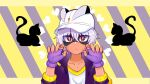 1boy black_hair cap careful_s cat gloves happy_heroes jacket mask purple_gloves purple_jacket smart_s