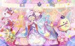 blonde_hair project_sekai short_hair smile tenma_tsukasa yellow_eyes yukata