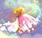 blurry colored_skin commentary_request from_side gardevoir gen_3_pokemon hand_up highres lens_flare looking_at_viewer mega_gardevoir mega_pokemon mofuta_(mofumofu_ovo) orange_eyes pokemon pokemon_(creature) white_skin