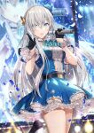 1girl anastasia_(fate) bangs blue_eyes blush breasts fate/grand_order fate_(series) gabiran hair_over_one_eye hairband large_breasts long_hair looking_at_viewer open_mouth silver_hair very_long_hair