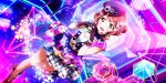 blush cyber dress green_eyes love_live!_school_idol_festival_all_stars pink_hair short_hair smile uehara_ayumu