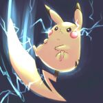 :< artist_name closed_mouth commentary_request crown electricity full_body gen_1_pokemon glowing hokorobi00 no_humans pikachu pokemon pokemon_(creature) solo