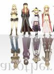4boys 4girls :d armor assassin_(ragnarok_online) bandages bangs belt bikini black_coat black_footwear black_gloves black_legwear black_pants blonde_hair blue_pants blue_shorts boots brown_belt brown_cape brown_footwear brown_hair brown_vest cape closed_mouth coat commentary_request crop_top cross cross_necklace detached_sleeves double_bun dress elbow_gloves fingerless_gloves full_body fur-trimmed_pants fur-trimmed_shorts fur_trim gauntlets gem genderswap genderswap_(ftm) genderswap_(mtf) gloves gypsy_(ragnarok_online) hair_between_eyes jewelry leotard long_hair long_sleeves looking_at_viewer midriff minstrel_(ragnarok_online) multiple_boys multiple_girls navel necklace negi_mugiya o-ring o-ring_top open_clothes open_coat open_mouth open_shirt pantaloons pants pauldrons ponytail pouch priest_(ragnarok_online) purple_dress purple_leotard purple_shirt ragnarok_online red_cape red_coat red_sleeves reflection sandals scarf see-through shirt shoes short_hair short_shorts shorts shoulder_armor sleeveless sleeveless_shirt smile strapless strapless_bikini suspenders swimsuit thigh-highs torn_clothes torn_shirt two-sided_cape two-sided_fabric two-tone_coat vest waist_cape white_background white_scarf white_shirt whitesmith_(ragnarok_online) yellow_bikini