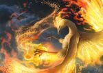 absurdres bird commentary_request fire gen_1_pokemon highres huge_filesize legendary_pokemon moltres no_humans pokemon pokemon_(creature) sideways_glance smoke solo talons teru_sakura