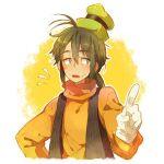 disney goofy green_hat human mickey_mouse_(series) orange_shirt