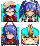 absurdres blue_hair hat highres joints maid maid_headdress mechanical_parts nightwitch9612 nopon poppi_(xenoblade) poppi_alpha_(xenoblade) poppi_qt_(xenoblade) poppi_qtpi_(xenoblade) robot robot_ears robot_joints scarf tora_(xenoblade_2) xenoblade_chronicles_(series) xenoblade_chronicles_2