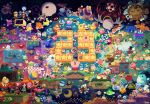 6+boys 6+girls absurdres adeleine anniversary character_request chuchu_(kirby) coo_(kirby) dark_meta_knight dark_nebula daroach drawcia everyone flamberge_(kirby) flying francisca_(kirby) gooey hat highres hyness kine_(kirby) king_dedede kirby kirby's_return_to_dream_land kirby:_planet_robobot kirby:_star_allies kirby:_triple_deluxe kirby_(series) kirby_64 kirby_and_the_amazing_mirror kirby_super_star lalala_(kirby) lololo_(kirby) marx mask maxim_tomato meta_knight monster moon multiple_boys multiple_girls multiple_persona plugg_(kirby) ribbon_(kirby) rick_(kirby) smile susie_(kirby) suyasuyabi taranza void_termina waddle_dee waddle_doo water whispy_woods wings zan_partizanne zero_two_(kirby)