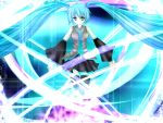 bad_id hatsune_miku rika-tan_(artist) thighhighs twintails vocaloid wallpaper