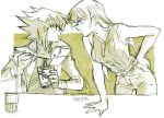 1boy 1girl 203wolves blonde_hair brown_hair couple long_hair tenjouin_asuka yuu-gi-ou yuu-gi-ou_gx yuuki_juudai