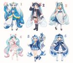 6+girls :o absurdres ahoge anchor_print animal_print aqua_eyes aqua_hair aqua_ribbon aqua_skirt arm_behind_back aryuma772 badge barefoot beads beamed_eighth_notes belt black_footwear black_gloves black_legwear black_neckwear black_shorts bloomers blue_coat blue_dress blue_eyes blue_hair blue_jacket blue_kimono blue_legwear boots borrowed_design bow bowtie braid buttons clam_shell cloud_hair coat coat_on_shoulders collar collared_shirt commentary crab_print dip-dyed_hair double-breasted dress eighth_note epaulettes fish_print flag food_themed_hair_ornament frilled_dress frilled_kimono frills full_body fur-trimmed_boots fur-trimmed_coat fur-trimmed_skirt fur_trim geta gloves gradient_hair hair_bow hair_ornament hair_ribbon hair_stick hand_on_hip hand_up happi harp hat hatsune_miku headphones highres holding holding_flag holding_instrument holding_spoon holding_wand instrument jacket japanese_clothes kimono knee_boots leg_ribbon light_blue_hair long_hair looking_at_viewer military military_uniform miniskirt multicolored_hair multiple_girls multiple_persona musical_note musical_note_print naval_uniform necktie obi open_clothes open_coat open_mouth pink_collar pink_hair pink_pupils pink_ribbon pink_skirt pleated_skirt red_legwear red_ribbon red_shirt redhead ribbon rice_spoon roe rope sailor_collar sailor_hat salute sash scallop school_uniform sea_angel_girl see-through_skirt seigaiha shell_hair_ornament shirt shiso_(plant) shorts skirt smile snowflake_hair_ornament snowflake_print spoon staff_(music) standing standing_on_one_leg star_(symbol) star_hair_ornament star_print striped striped_legwear tabi thigh-highs twintails underwear uniform very_long_hair vocaloid wand wasabi wave_print white_background white_coat white_footwear white_hair white_headwear white_kimono white_legwear white_shirt wide_sleeves wings yuki_miku zettai_ryouiki