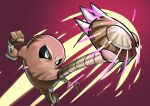 absurdres black_eyes claws clenched_hand commentary_request energy full_body gen_1_pokemon hand_up highres hitmonlee kicking matsumoto_(ma_tsuya) pokemon pokemon_(creature) solo