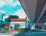 blue_sky building cloud cloudy_sky commentary english_commentary gen_1_pokemon grass ground_vehicle highres motor_vehicle outdoors overpass pikachu pokemon pokemon_(creature) power_lines road sign simone_mandl sitting sky squirtle standing traffic_cone tree truck utility_pole vermilion_city walking