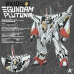 absurdres character_name clenched_hand creator_connection gundam gundam_hathaway's_flash hades_project_zeorymer highres kevinayama looking_ahead mecha mobile_suit multiple_views no_humans open_hand science_fiction standing xi_gundam zeorymer zoom_layer