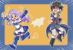 1boy 1girl crying fire_emblem fire_emblem:_awakening fire_emblem:_kakusei fire_emblem:_rekka_no_ken fire_emblem:_the_blazing_blade florina_(fire_emblem) lonqu purple_hair running_away startled