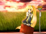 bad_id blonde_hair rika-tan_(artist) sunset vocaloid