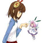 buttons chicchana_yukitsukai_sugar fairy hat large_buttons lowres minigirl pink_hair saga_bergman shikai shikai_(iesiki_56) snow_fairy_sugar sugar sugar_(chicchana_yukitsukai_sugar) wings