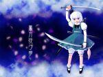 konpaku_youmu sword takashima touhou weapon