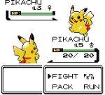 artsy-rc commentary english_commentary english_text fake_screenshot gen_1_pokemon highres no_humans pikachu pokemon pokemon_(creature) smile sprite sprite_art white_background
