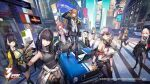 404_(girls_frontline) 6+girls anniversary anti-rain_(girls_frontline) artist_request beret car cellphone city cityscape copyright_name drum_magazine emblem english_text fingerless_gloves g11_(girls_frontline) girls_frontline gloves grifon_&_kryuger ground_vehicle hat highres hk416_(girls_frontline) m16a1_(girls_frontline) m200_(girls_frontline) m4_sopmod_ii_(girls_frontline) m4a1_(girls_frontline) motor_vehicle multiple_girls necktie official_art phone ro635_(girls_frontline) scar scar_across_eye selfie siblings sisters smartphone sports_car st_ar-15_(girls_frontline) sunglasses thompson_(girls_frontline) twins ump45_(girls_frontline) ump9_(girls_frontline) v