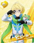 blonde_hair character_name dress green_eyes idolmaster idolmaster_side-m pierre_(idolmaster) short_hair smile