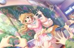 blonde_hair blush dress green_eyes idolmaster_cinderella_girls_starlight_stage long_hair satou_shin smile