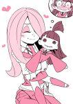 doll doll_hug hug kagari_atsuko little_witch_academia sucy_manbavaran transformation trapped