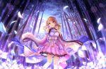 blush brown_eyes brown_hair houjou_karen idolmaster_cinderella_girls_starlight_stage long_hair yukata