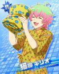 blonde_hair character_name dress green_eyes idolmaster idolmaster_side-m nekoyanagi_kirio short_hair smile