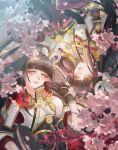 2girls bangs black_hair blush hinoa japanese_clothes kimono long_hair minoto monster_hunter monster_hunter_(series) monster_hunter_rise pointy_ears sasa_(pixiv843463) siblings twins