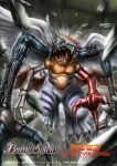 battle_spirits bone chimera chimeramon claws commentary_request company_name copyright_name debris digimon digimon_(creature) extra_arms feathered_wings helmet horned_helmet horns logo low_wings misawa_kei no_humans official_art open_mouth orange_eyes pectorals red_wings sharp_teeth single_horn solo tail teeth tongue torn_wings white_wings wings