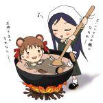 cauldron closed_eyes cooking fire fukuzawa_yumi lowres maria-sama_ga_miteru ogasawara_sachiko raccoon_ears school_uniform tears translated translation_request