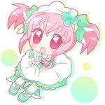 amulet_clover chibi clubs hinamori_amu magical_girl mirai_(artist) mirai_(sugar) open_mouth pink_hair ribbon shugo_chara! solo twintails