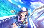 blue_eyes blush dress glasses idolmaster_cinderella_girls_starlight_stage long_hair purple_hair yagami_makino