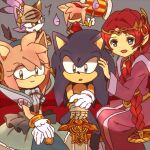 1boy 4girls ^^^ amy_rose animal_ears animal_nose bangs blaze_the_cat blue_dress blue_eyes blue_fur blue_hair blue_hairband body_fur braid bukiko caliburn_(sonic) cat_ears cat_girl cat_tail circlet commentary_request couch dress dual_persona earrings faceless faceless_female fire flat_chest furry gauntlets gloves green_eyes grey_background hair_tie hairband hammer hand_on_another's_head hand_up hands_together happy helmet holding holding_hammer holding_sword holding_weapon huge_weapon jewelry long_hair long_sleeves looking_at_another looking_at_viewer looking_to_the_side medium_hair merlina_(sonic) multicolored_hair multiple_girls open_mouth parted_bangs pink_fur pink_hair pointy_ears purple_dress purple_fire purple_fur purple_hair red_dress red_hairband redhead shaded_face sidelocks simple_background single_braid single_gauntlet single_glove sitting sleeveless sleeveless_dress smile socks sonic_(series) sonic_the_hedgehog sword tail tied_hair topknot two-tone_fur two-tone_hair very_long_hair weapon white_fur white_gloves white_legwear yellow_eyes yellow_fur