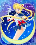 1girl bishoujo_senshi_sailor_moon bishoujo_senshi_sailor_moon_crystal blonde_hair blue_eyes blue_sailor_collar blue_skirt choker closed_mouth commentary_request copyright_name double_bun elbow_gloves floating_hair from_side gloves highres leotard long_hair looking_at_viewer magical_girl miniskirt neckerchief panties pleated_skirt red_neckwear sailor_collar sailor_moon sailor_senshi_uniform shirt skirt sleeveless sleeveless_shirt smile solo standing tamanegiinyo tsukino_usagi twintails underwear very_long_hair white_gloves white_panties white_shirt