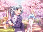 bang_dream! blue_eyes blue_hair blush hikawa_hina short_hair smile