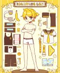 1boy animal_print arm_warmers banana bass_clef bear_print belt black_bow black_legwear black_shorts black_tank_top blonde_hair blue_eyes bow bowtie boxers character_name clothes_removed commentary crossed_arms flower food formal fruit full_body headphones headphones_removed headset jockstrap kagamine_len korean_commentary leg_warmers lemon male_focus male_underwear melling_rl microphone necktie neckwear_removed orange_(food) pants pants_removed shirt shirt_removed shoes shoes_removed short_ponytail short_shorts short_sleeves shorts shorts_removed shoulder_tattoo sideways_glance solo spiky_hair standing striped_boxers suit tank_top tattoo underwear vocaloid white_boxers white_footwear white_shirt yellow_background yellow_neckwear