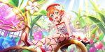 blush dress fairy green_eyes hoshizora_rin love_live!_school_idol_festival_all_stars orange_hair short_hair smile spring_(season)