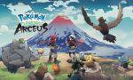 1boy 1girl absurdres bidoof blue_sky copyright_name cyndaquil female_protagonist_(pokemon_legends:_arceus) gen_1_pokemon gen_2_pokemon gen_3_pokemon gen_4_pokemon gen_5_pokemon gen_7_pokemon highres lucario male_protagonist_(pokemon_legends:_arceus) mountain official_art oshawott pikachu pokemon pokemon_(creature) pokemon_(game) pokemon_legends:_arceus ralts rhyhorn rowlet scarf shinx sky standing staraptor