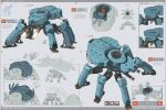 absurdres arrow_(symbol) character_sheet cockpit english_commentary english_text explosion firing from_above highres mecha multiple_views no_humans original robert_ryminiecki science_fiction