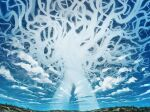 anato_finnstark berserk blue_sky clouds commentary day english_commentary giant_tree highres making-of_available no_humans outdoors scenery sky tree