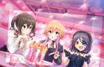 blush brown_hair dress idolmaster_cinderella_girls_starlight_stage long_hair ninomiya_asuka pink_eyes