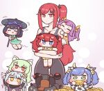 6+girls :3 :p =_= a-87_banshee airplane_hair_ornament al_wraith animal_costume animal_ear_fluff animal_ears b-11_night_angel bell blue_hair blush_stickers bow braid bulga cat_ears child closed_eyes corn cow_costume cow_ears cowbell dress eating flying food green_eyes hair_bow hair_ornament horns jingle_bell jitome last_origin licking light_blue_hair light_green_hair long_hair may_of_doom multiple_girls open_mouth p-18_sylphid p-2000_djinnia purple_hair red_eyes redhead short_hair simple_background smile sweatdrop tears tongue tongue_out twin_braids twintails two_side_up type-37_daika very_long_hair white_background yellow_eyes younger